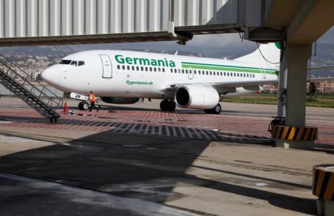 Un avión de Germania.