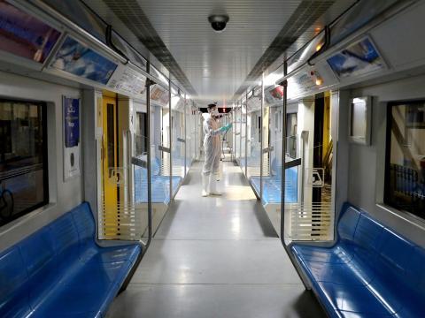 Metro de Teherán, Irán.