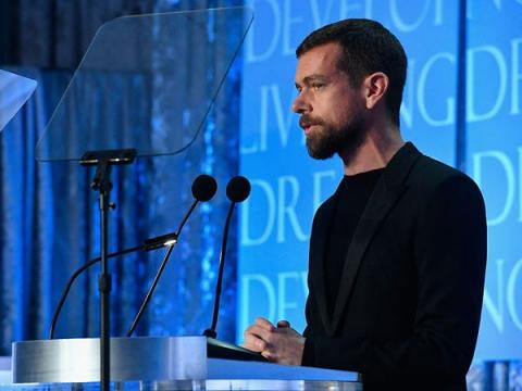 Jack Dorsey, CEO de Square y Twitter.