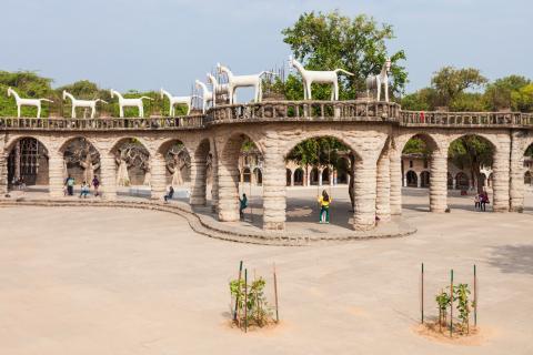 El Jardín de Rocas, en la ciudad india de Chardigarh