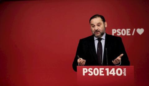 José Luis Ábalos en un Congreso del PSOE.