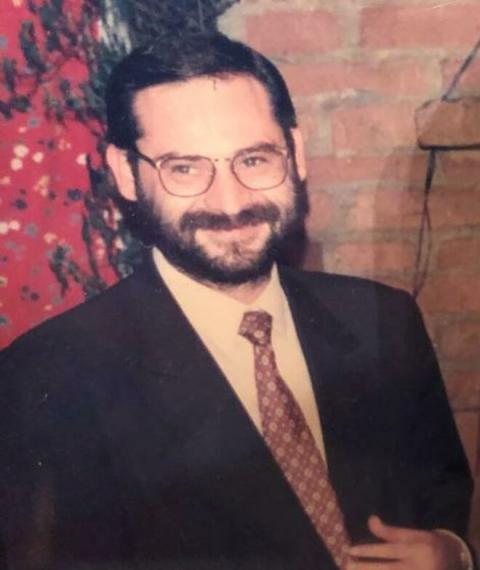 José Luis Ábalos, en su juventud.