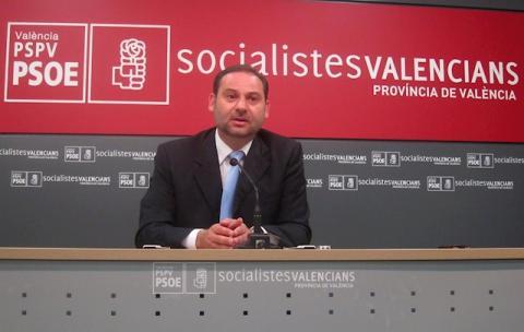 José Luis Ábalos en un mitin del PSPV-PSOE.