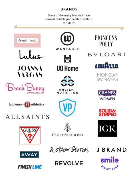 Macy Mariano: marcas con las que ha trabajado