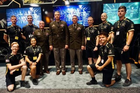 Miembros del Army Esports, Washington DC (EE.UU.).
