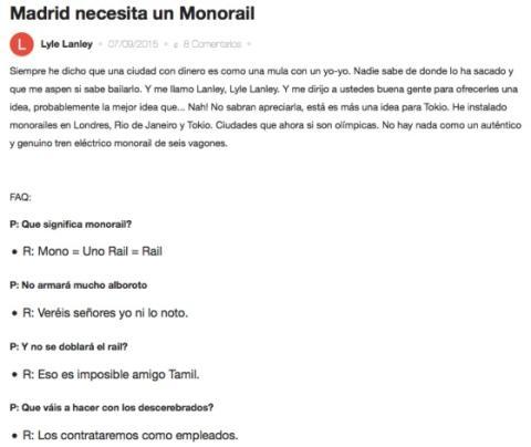 Monorraíl de Forocoches.