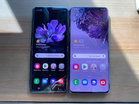 La pantalla del Galaxy Z Flip es casi tan grande como la pantalla de 6,9 pulgadas del Samsung Galaxy S20 Ultra.