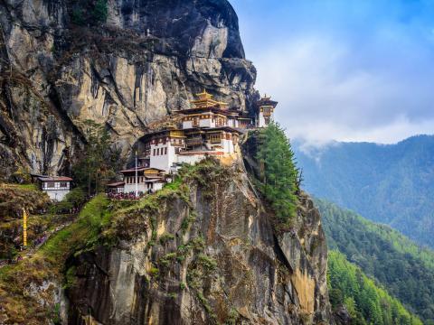 Paro Taktsang Monastery is a sacred site.