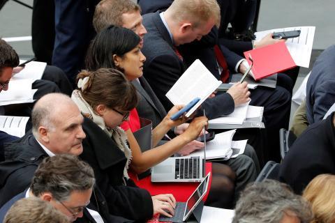 Periodistas en rueda de prensa