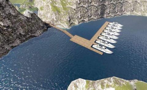 Un máximo de ocho embarcaciones podrán atracar en el muelle de la isla.
