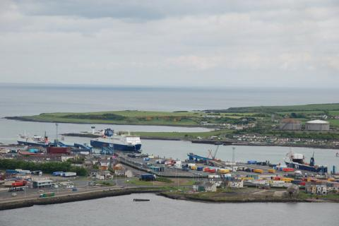 Puerto de Larne, en Irlanda del Norte.