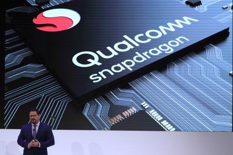 Cristiano Amon, presidente de Qualcomm Incorporated, durante una presentación en el Mobile World Congress en Barcelona, España, 26 de febrero de 2018.