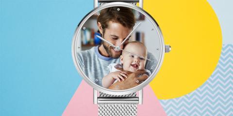 Reloj analógico personalizado con foto