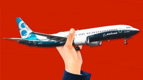 Una representación de un avión de Boeing