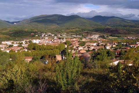 Vista de Saint-Chinian, Francia.