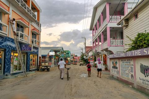 Calles de San Pedro, Belice.
