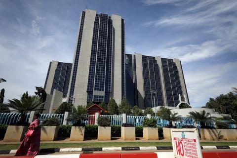 Sede del Banco Central de Nigeria en la capital del país, Abuja