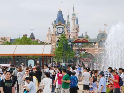 Shanghai Disneyland el 4 de octubre de 2016.