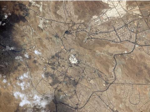 La Meca vista desde una estación espacial internacional.