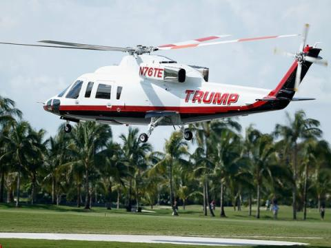 Trump helicóptero