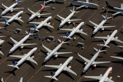 Varios Boeing 737 Max sin entregar descansan en un aeropuerto de Seattle (Washington, Estados Unidos).