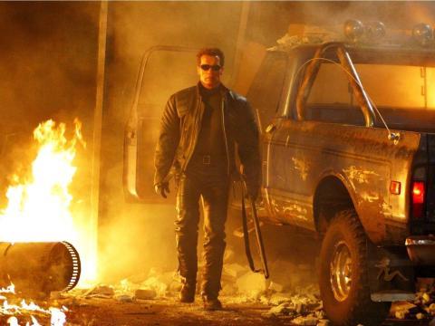 "17. Arnold Schwarzenegger as The Terminator in ""Terminator 3: Rise of the Machines"""