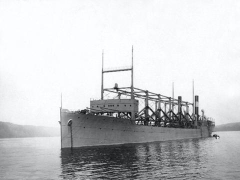 El USS Cyclops que desapareció en Bermudas cuando regresaba de un viaje a Brasil en marzo de 1918.