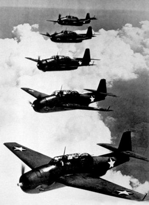 El modelo de aviones de la Armada estadounidense Avenger, torpederos-bombarderos que desaparecieron en el Triángulo de las Bermudas.