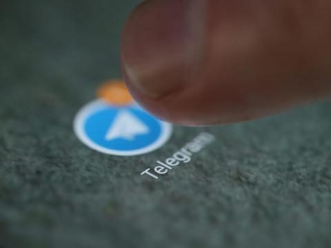 Logotipo de la aplicación Telegram.