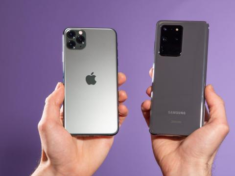 5 características de los últimos iPhone de Apple que faltan en los nuevos teléfonos Galaxy S20 de Samsung.