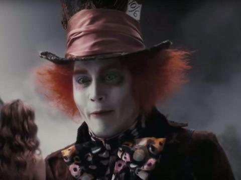 """6. Johnny Depp as The Mad Hatter in """"Alice in Wonderland"""""""