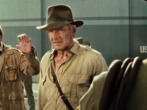 """7. Harrison Ford as Indiana Jones in """"Indiana Jones and the Kingdom of the Crystal Skull"""""""