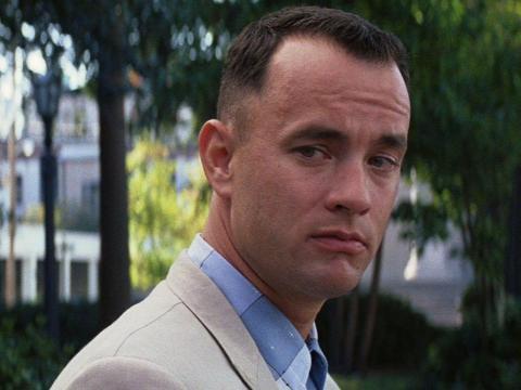 """9. Tom Hanks as Forrest Gump in """"Forrest Gump"""""""