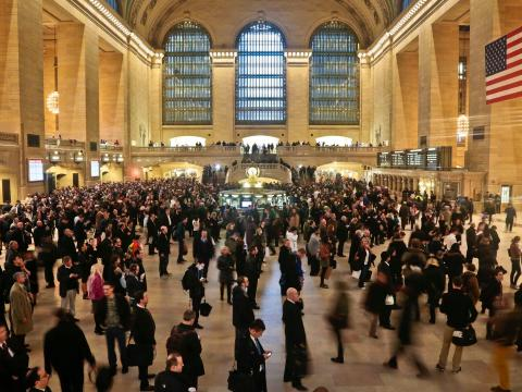 BEFORE: With about 750,000 daily visitors, Grand Central Terminal is usually one of the busiest spots in New York City.