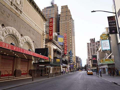 AFTER: To curb the coronavirus, theaters closed their doors, suspending all plays and musicals, on March 12.