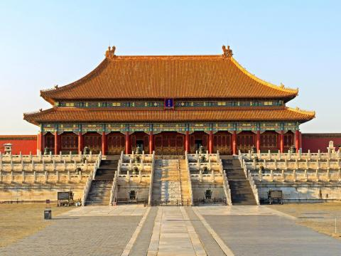 AFTER: It, along with many other Chinese attractions, closed to the public on January 25.