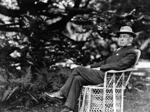 Woodrow Wilson, pictured here in 1920, was the President of the US at the time of the outbreak.