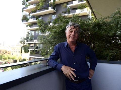 Stefano Boeri en 'Bosco Verticale'.