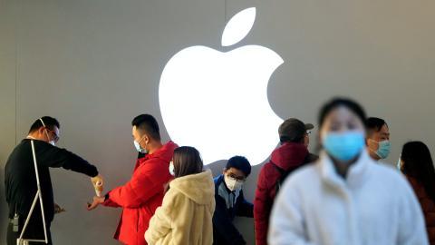 Apple Store en China en plena crisis del coronavirus.