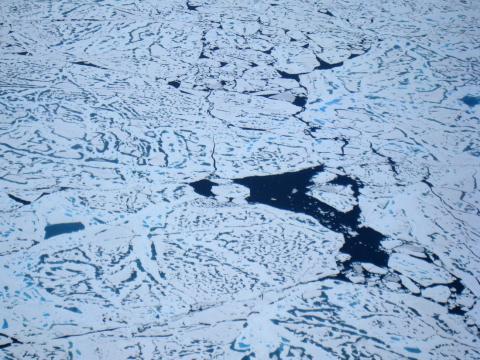 El Ártico desde un avión.