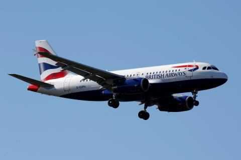 Un avión de British Airways.