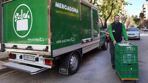 Camión eléctrico de Mercadona