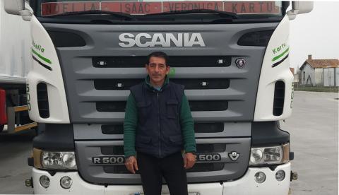 Camionero David Pérez Lorenzo.