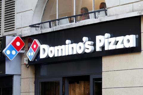 Cartel de Domino's Pizza.