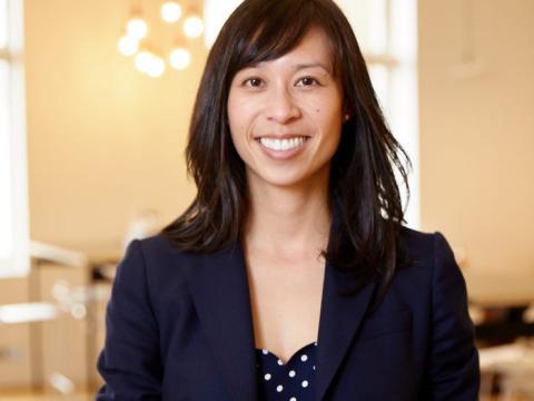 Christine Cruzvergara es la vicepresidenta de educación superior y éxito estudiantil en Handshake.