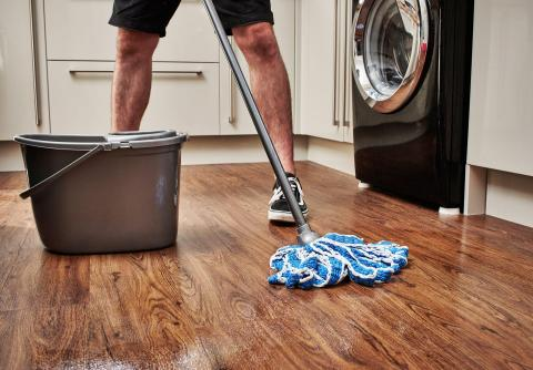 Clean your floor with various home remedies.