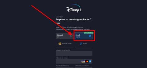 Cómo cambiar entre el plan mensual y anual en Disney Plus
