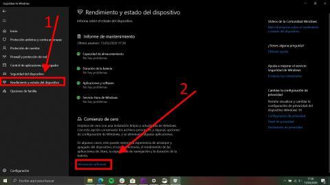 Cómo comprobar el rendimiento y estado del equipo en Windows 1
