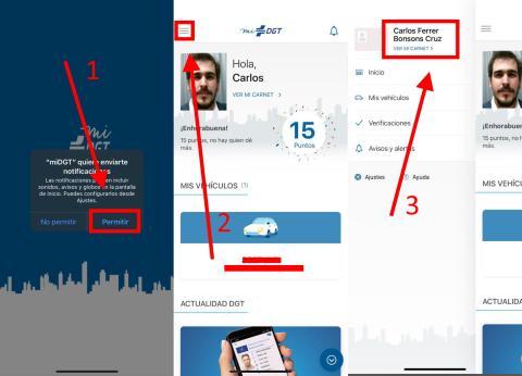 Cómo configurar el carnet de conducir digital en la aplicación miDGT