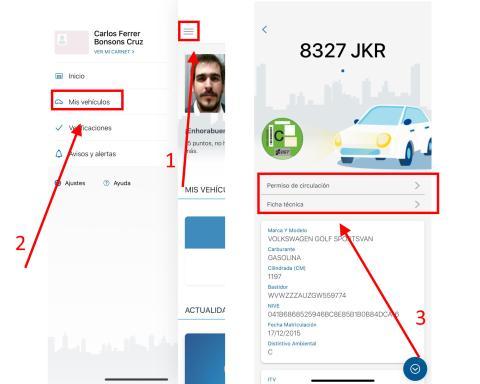 Cómo consultar tu permiso de circulación o la ficha técnica de tu vehículo en miDGT